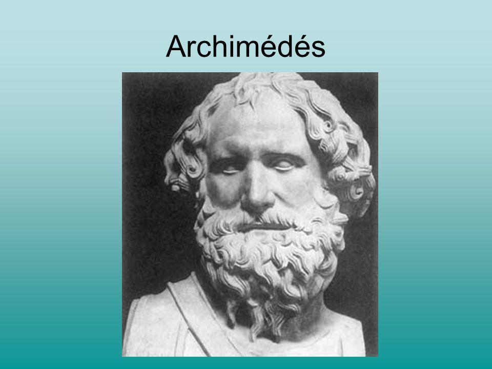 Jeden z největších matematiků Přesně odhadl číslo pí Stanovil vzorce pro výpočet objemu Vysvětlil princip páky Vynálezy na obranu svého města před Římany: - zapalování lodí na dálku pomocí zrcadel (moderní vědci provedli pokus a zjistili, že by to za určitých podmínek bylo možné) - Archimédův dráp (jeřáb převracející lodě, které pluly kolem hradeb)