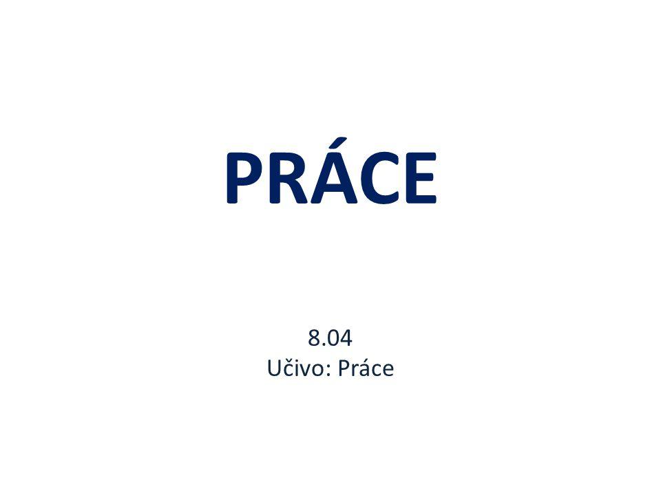 PRÁCE 8.04 Učivo: Práce
