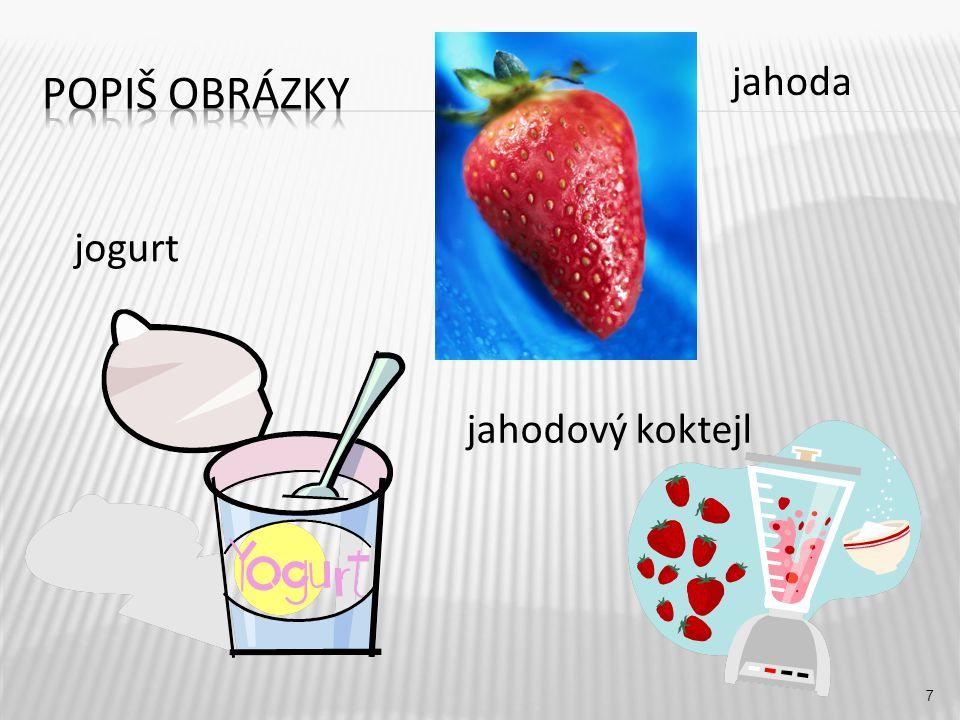 jahoda 7 jogurt jahodový koktejl