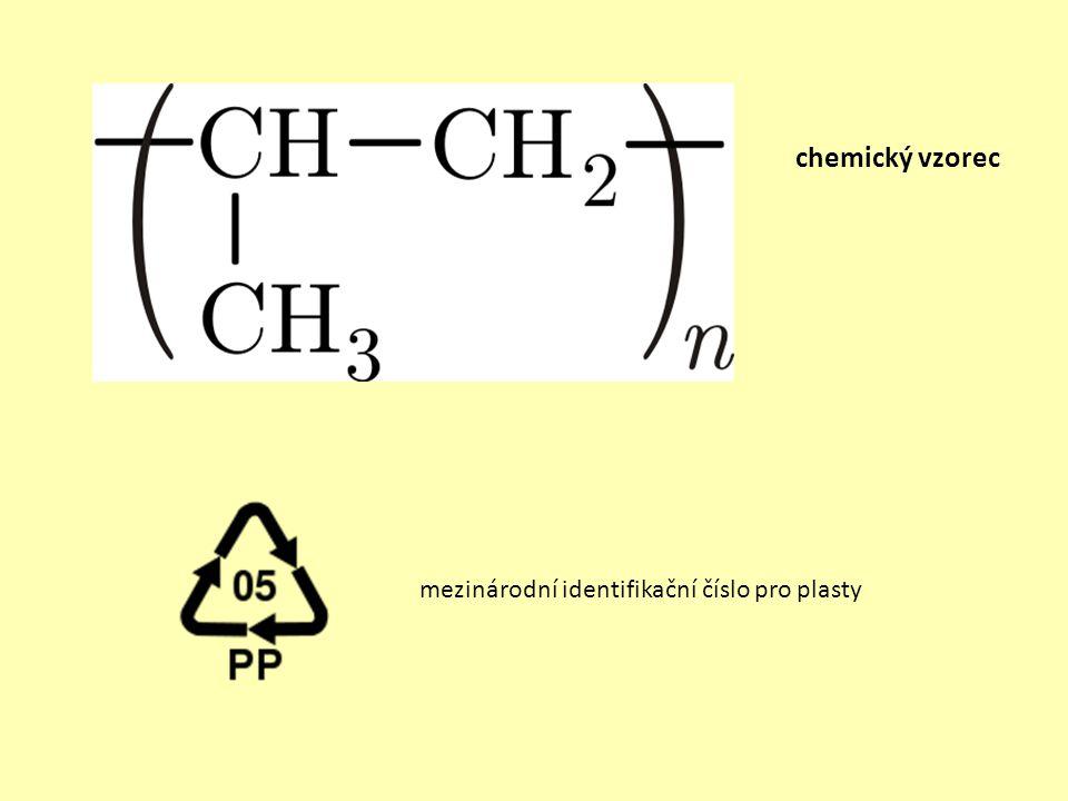 mezinárodní identifikační číslo pro plasty chemický vzorec