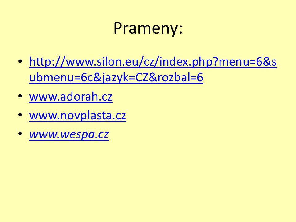 Prameny: http://www.silon.eu/cz/index.php?menu=6&s ubmenu=6c&jazyk=CZ&rozbal=6 http://www.silon.eu/cz/index.php?menu=6&s ubmenu=6c&jazyk=CZ&rozbal=6 w