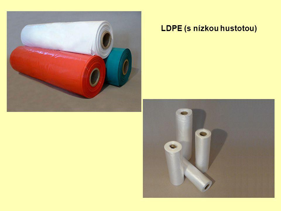 Druhy PVC Tvrzený (novodur): (bez změkčovadel, pouze se stabilizátory, mazivy a modifikátory) trubky, profily, desky Měkčený (novoplast): (se změkčovadly) folie, nádoby, hračky, ochranné rukavice