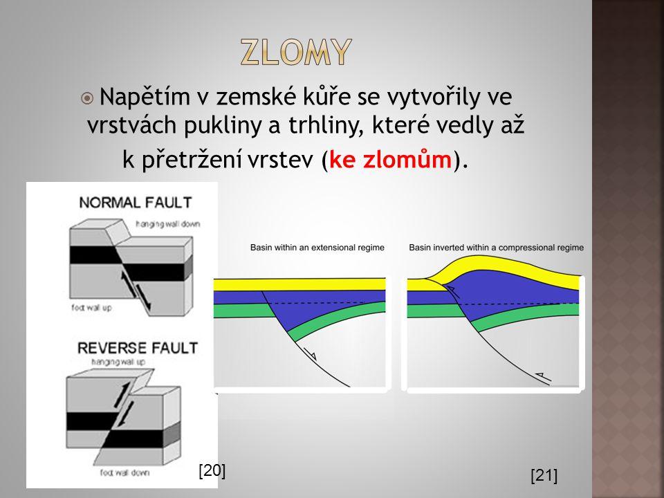  Při dalším stlačování ležaté vrásy může dojít k jejímu přetržení a posunování po vrstvách podloží (= vrásový přesmyk).  Pokud posun nastane až do k