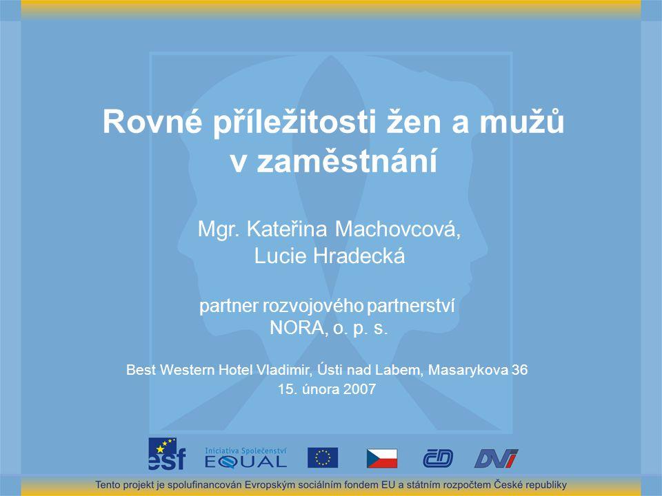 Rovné příležitosti žen a mužů v zaměstnání Mgr.