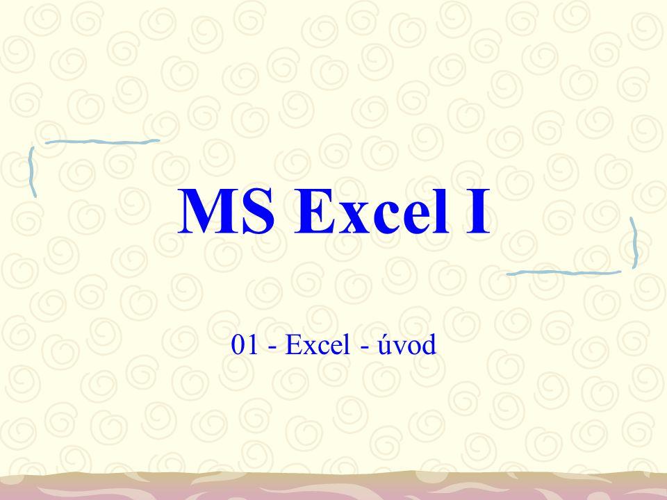 MS Excel I 01 - Excel - úvod