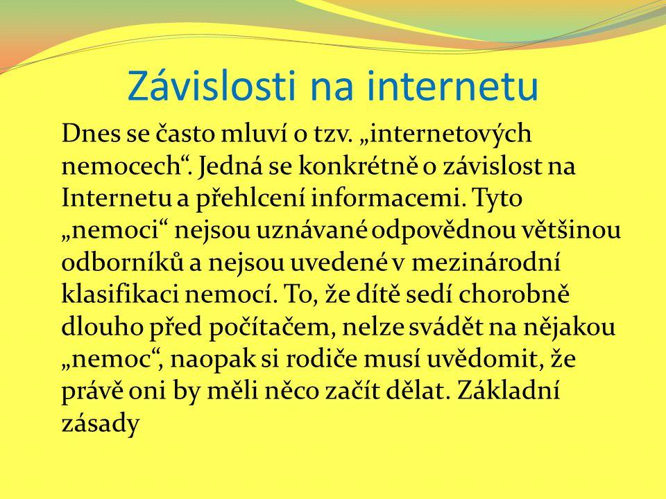 Velký vliv internetu Základní zásady Rodiče by při výchově dítěte dnes neměli zapomínat na velký vliv Internetu.