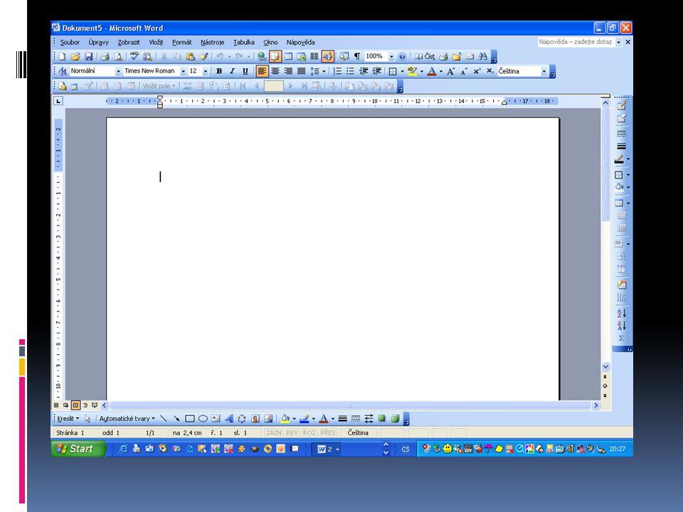 SOUBOR Levým tlačítkem myši klikni na Soubor Soubor se otevře s nabídkou Tento Soubor budeš často používat