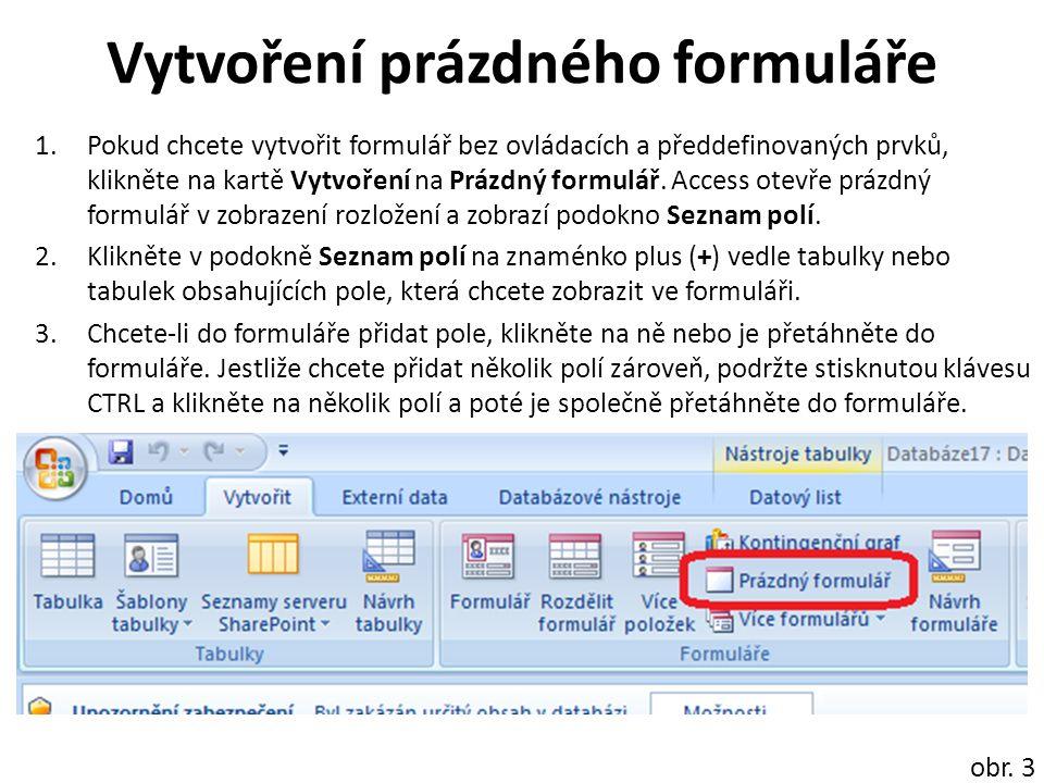 Vytvoření rozděleného formuláře Chcete-li vytvořit nový rozdělený formulář pomocí nástroje Rozdělený formulář, klikněte v navigačním podokně na tabulku nebo dotaz obsahující data a na kartě Vytvořit klikněte na položku Další formuláře a poté na položku Rozdělený formulář.
