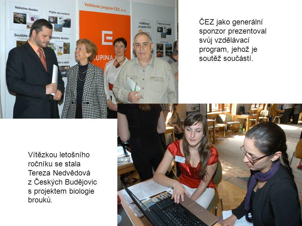 ČEZ jako generální sponzor prezentoval svůj vzdělávací program, jehož je soutěž součástí.
