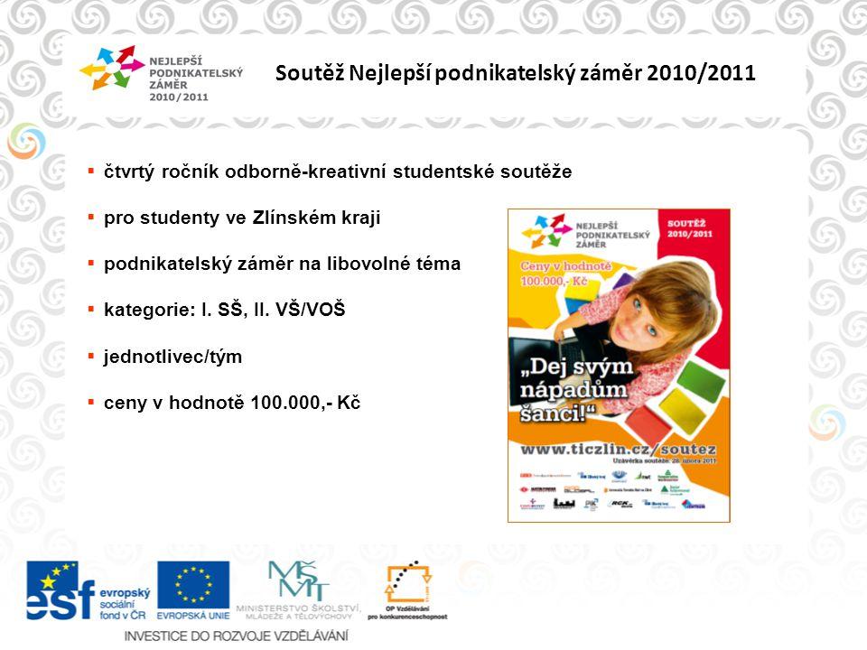 Soutěž Nejlepší podnikatelský záměr 2010/2011 1.