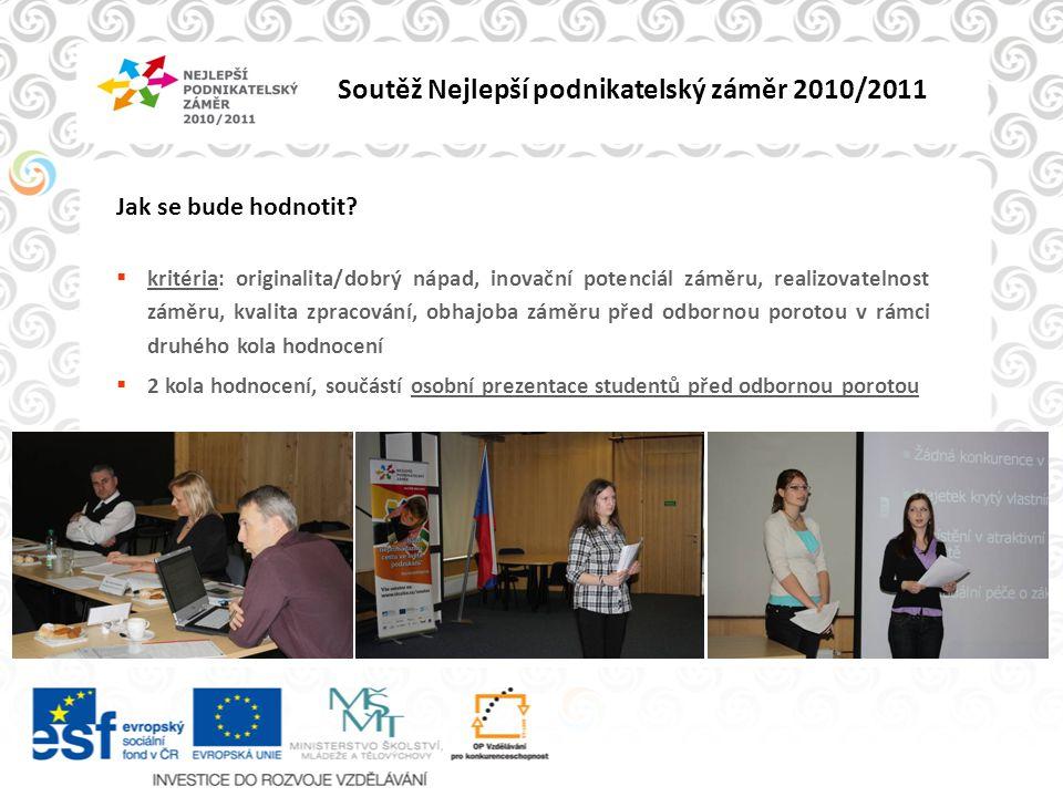 Soutěž Nejlepší podnikatelský záměr 2010/2011 Podnikatelský záměr ?