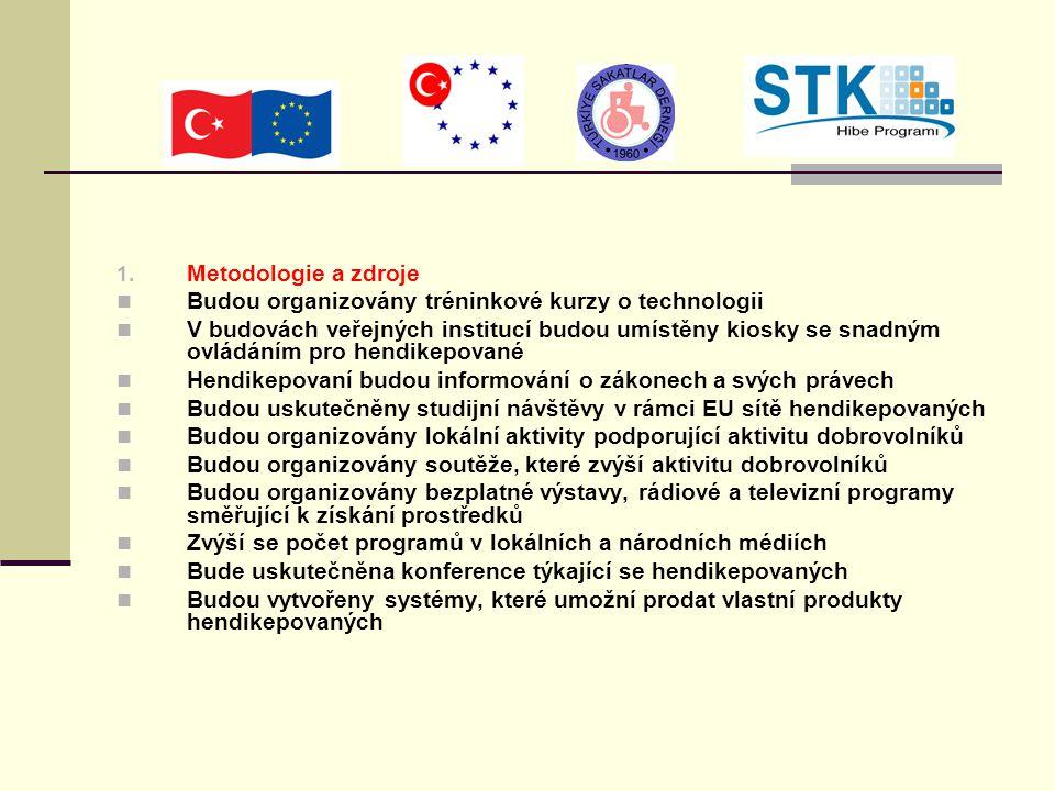 1. Metodologie a zdroje Budou organizovány tréninkové kurzy o technologii V budovách veřejných institucí budou umístěny kiosky se snadným ovládáním pr