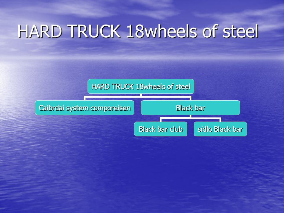 HARD TRUCK 18wheels of steel Caibrdai system comporeisen Black bar Black bar club sídlo Black bar