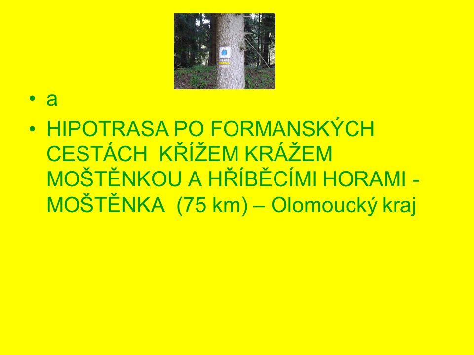 a HIPOTRASA PO FORMANSKÝCH CESTÁCH KŘÍŽEM KRÁŽEM MOŠTĚNKOU A HŘÍBĚCÍMI HORAMI - MOŠTĚNKA (75 km) – Olomoucký kraj