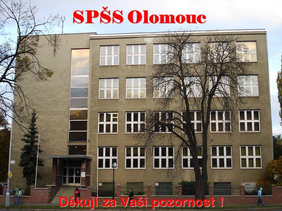 SPŠS Olomouc Děkuji za Vaši pozornost !