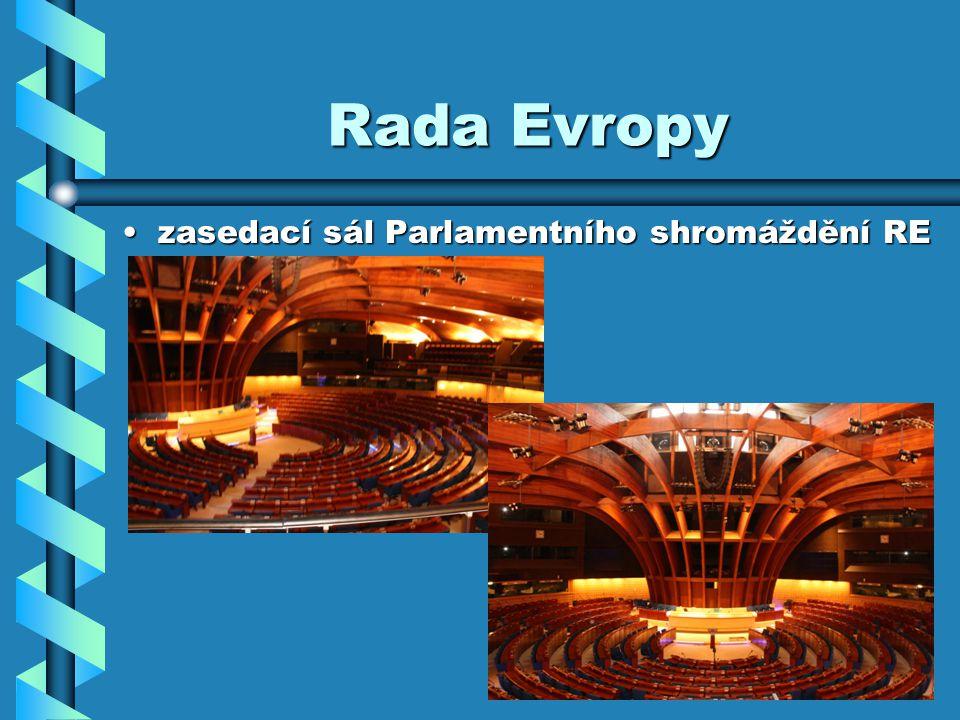 Rada Evropy zasedací sál Parlamentního shromáždění REzasedací sál Parlamentního shromáždění RE