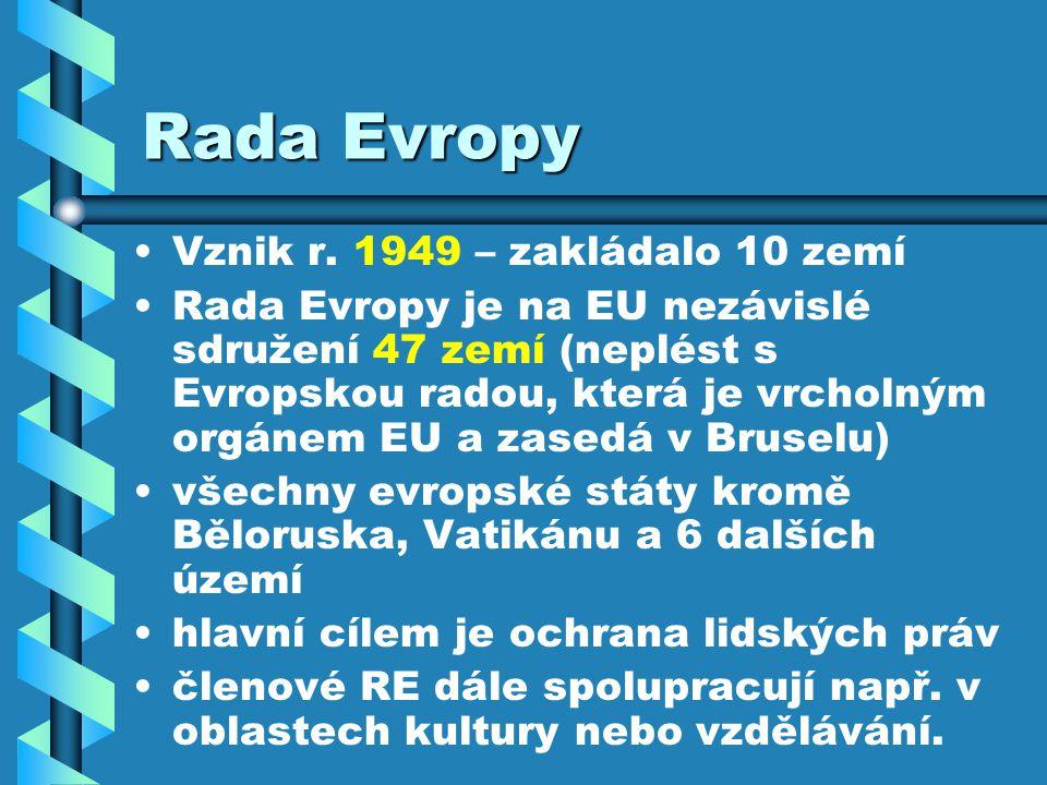 Rada Evropy Vznik r.