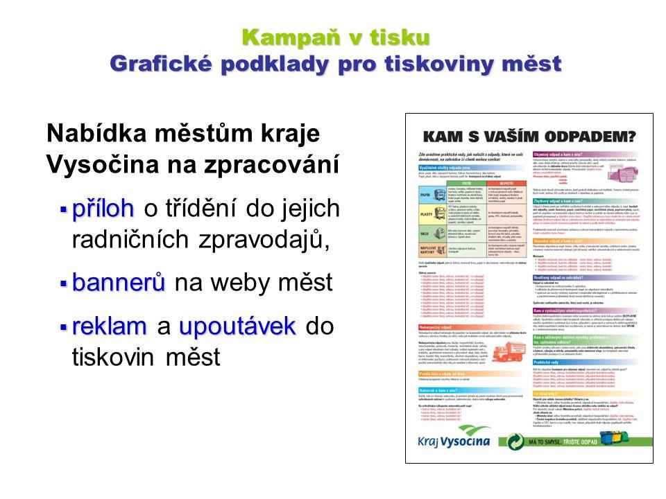 Nabídka městům kraje Vysočina na zpracování  příloh  příloh o třídění do jejich radničních zpravodajů,  bannerů  bannerů na weby měst  reklamupou