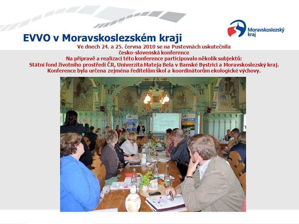 EVVO v Moravskoslezském kraji Ve dnech 24. a 25. června 2010 se na Pustevnách uskutečnila česko-slovenská konference Na přípravě a realizaci této konf