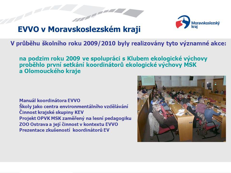 EVVO v Moravskoslezském kraji Celokrajská konference EVVO Ve dnech 22.