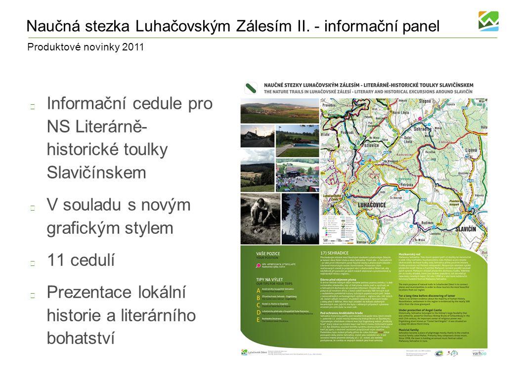 Produktové novinky 2011 Komonecké stezky V průběhu roku 2011 dojde k realizaci Komoneckých stezek Přírodě blízké okruhy pro MTB jezdce Přibližně 10 km značených tras pro bikery