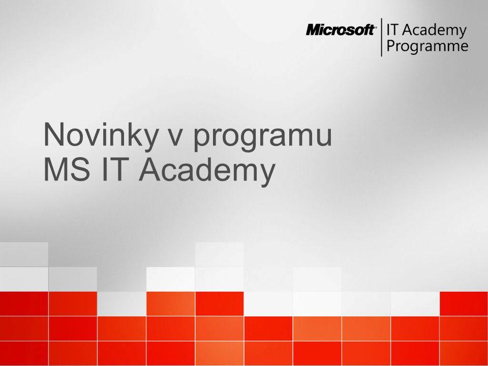 Novinky v programu MS IT Academy