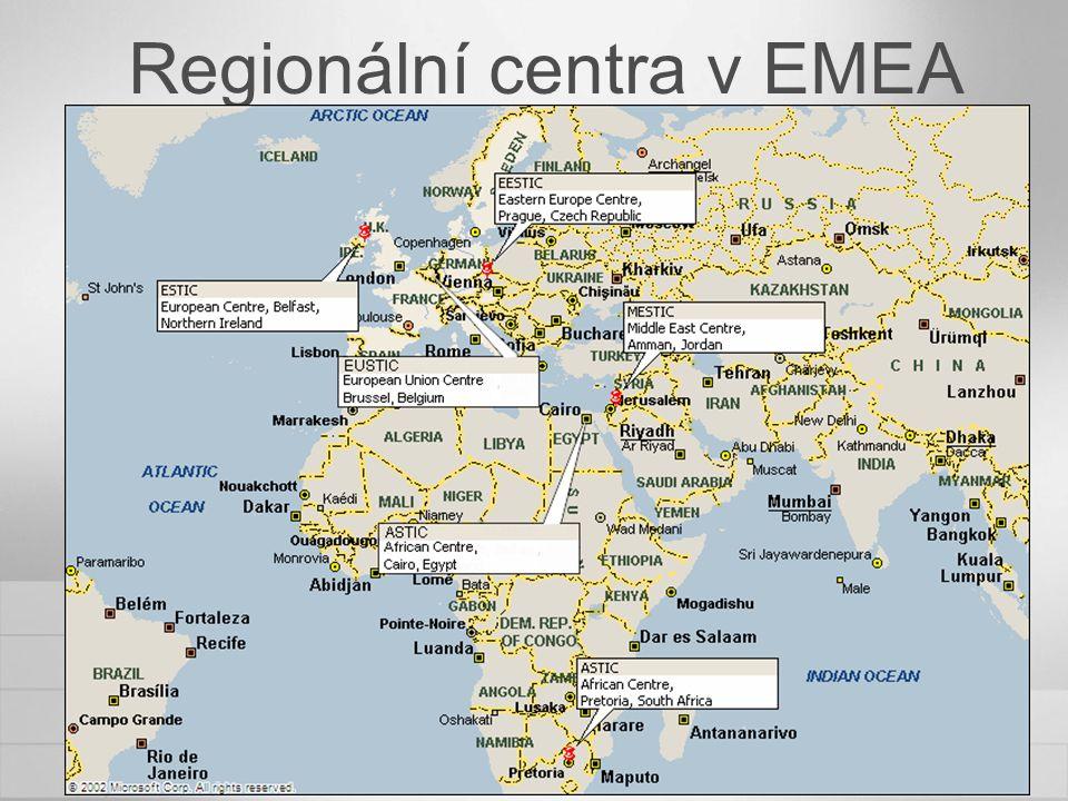 Regionální centra v EMEA