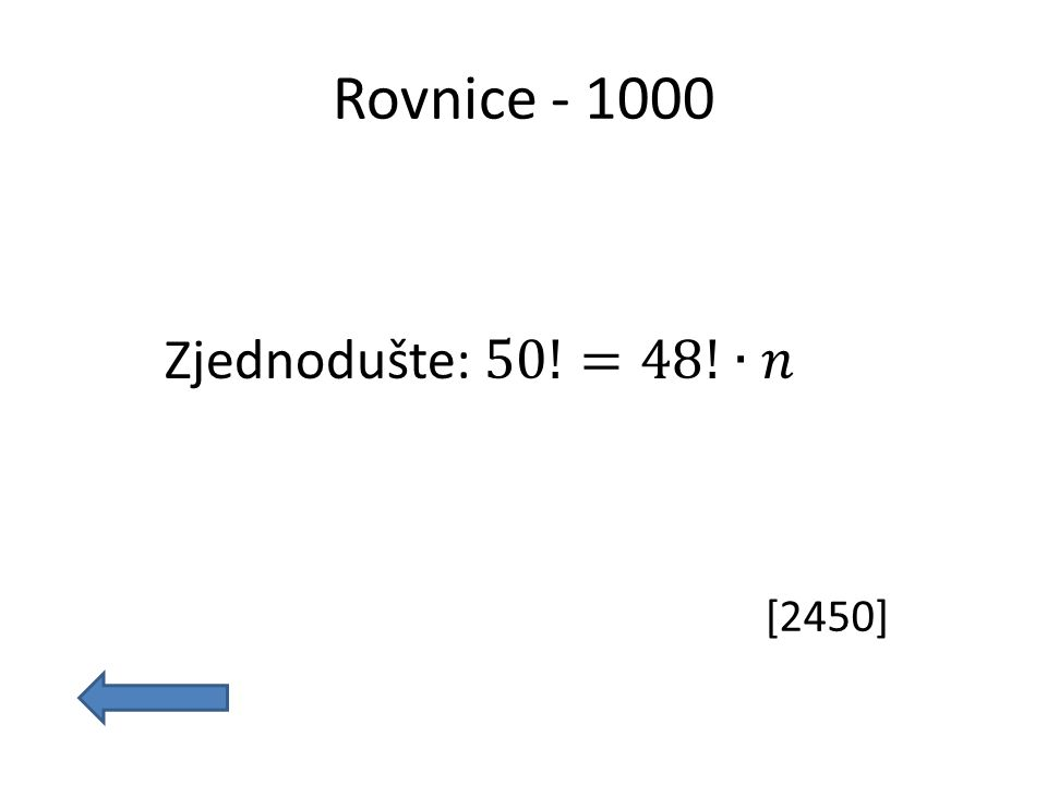 Rovnice - 1000 [2450]