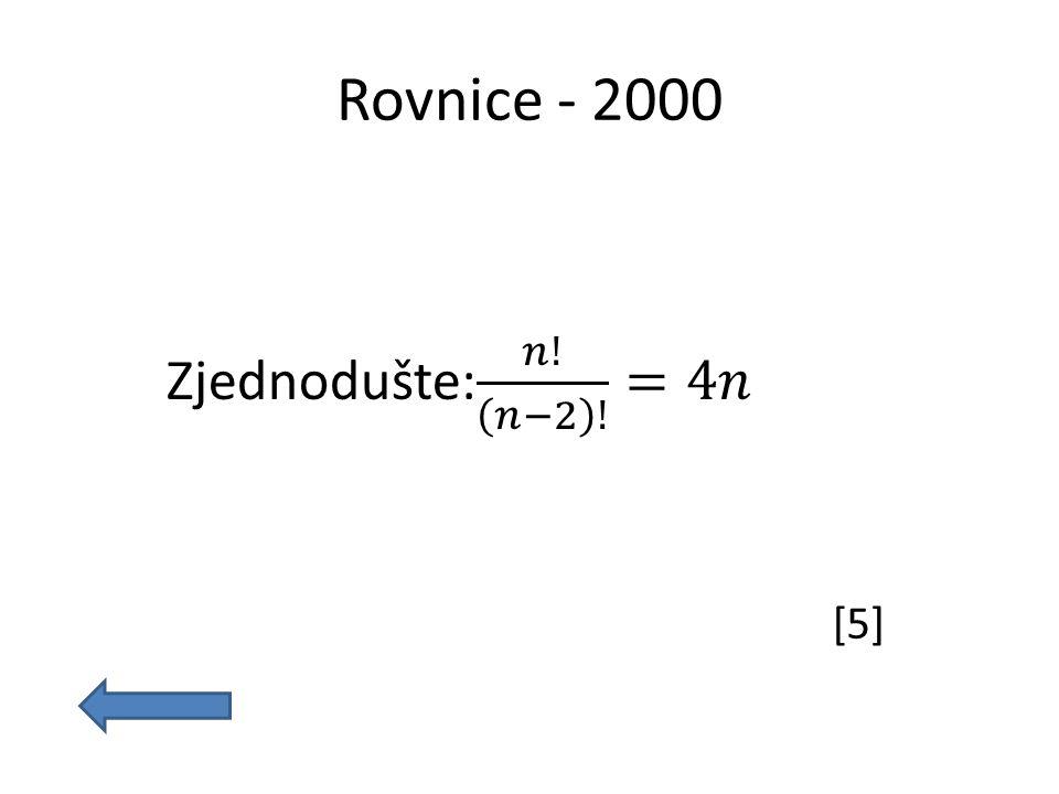 Rovnice - 2000 [5]