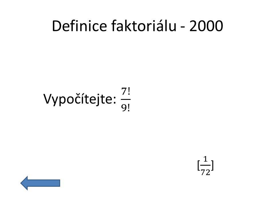 Definice faktoriálu - 2000