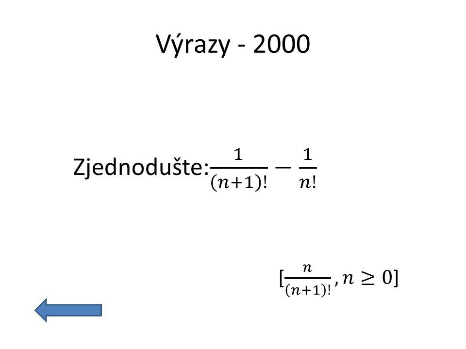 Výrazy - 2000