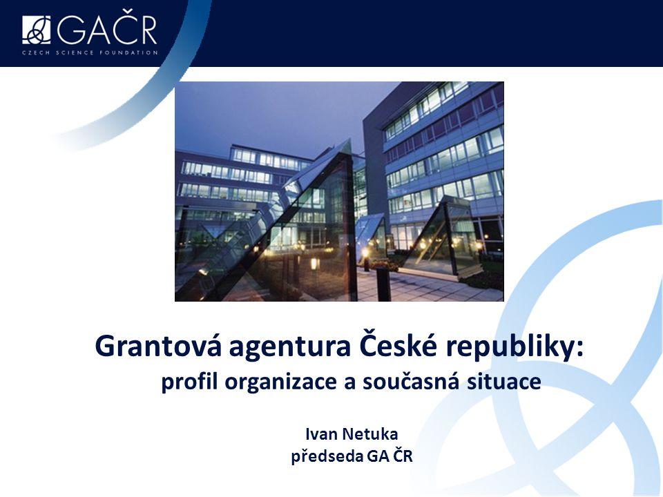 Agenda prezentace Role GA ČR ve financování základního výzkumu  základní údaje  k výsledkům veřejné soutěže na rok 2015  aktuální problémy a změny 2015  perspektivní témata