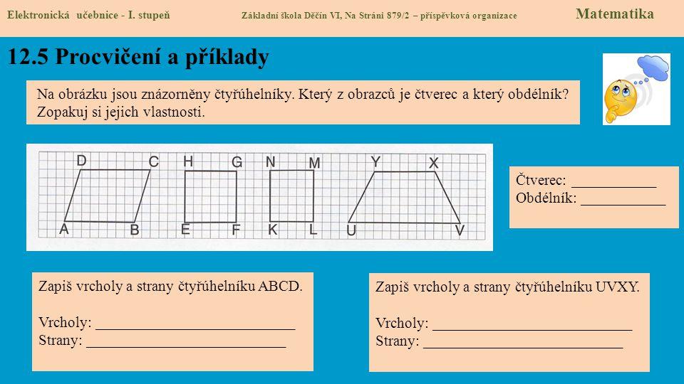 12.5 Procvičení a příklady Elektronická učebnice - I.