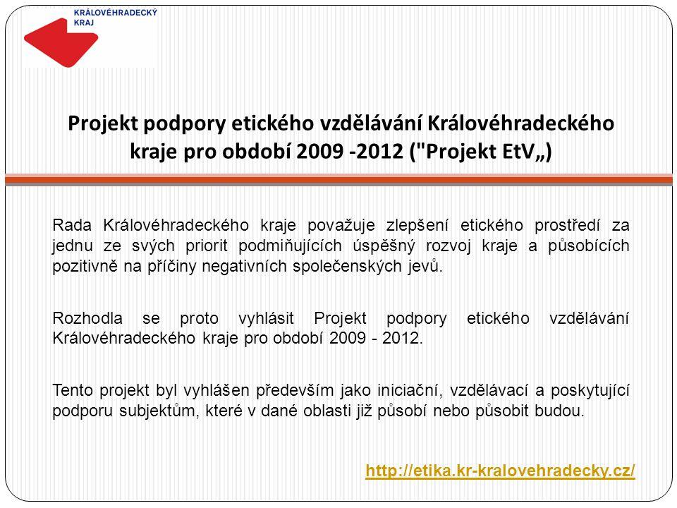 Projekt podpory etického vzdělávání Královéhradeckého kraje pro období 2009 -2012 (