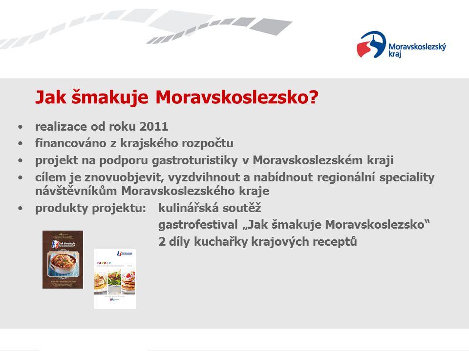 Jak šmakuje Moravskoslezsko? realizace od roku 2011 financováno z krajského rozpočtu projekt na podporu gastroturistiky v Moravskoslezském kraji cílem