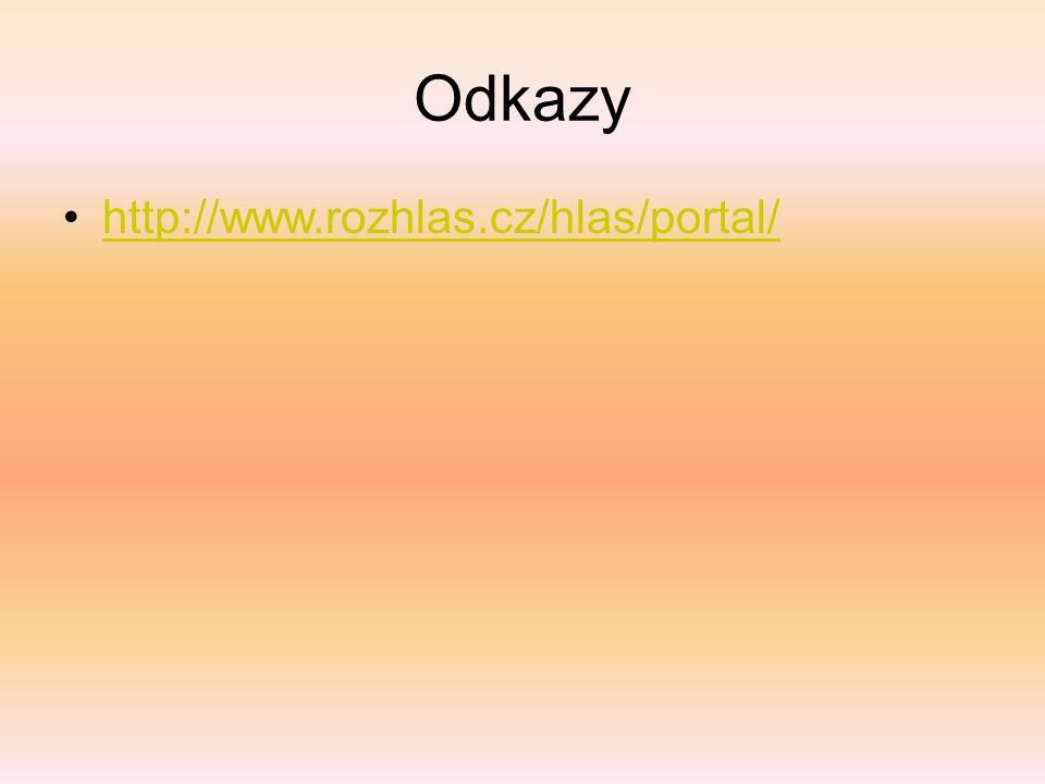 Odkazy http://www.rozhlas.cz/hlas/portal/