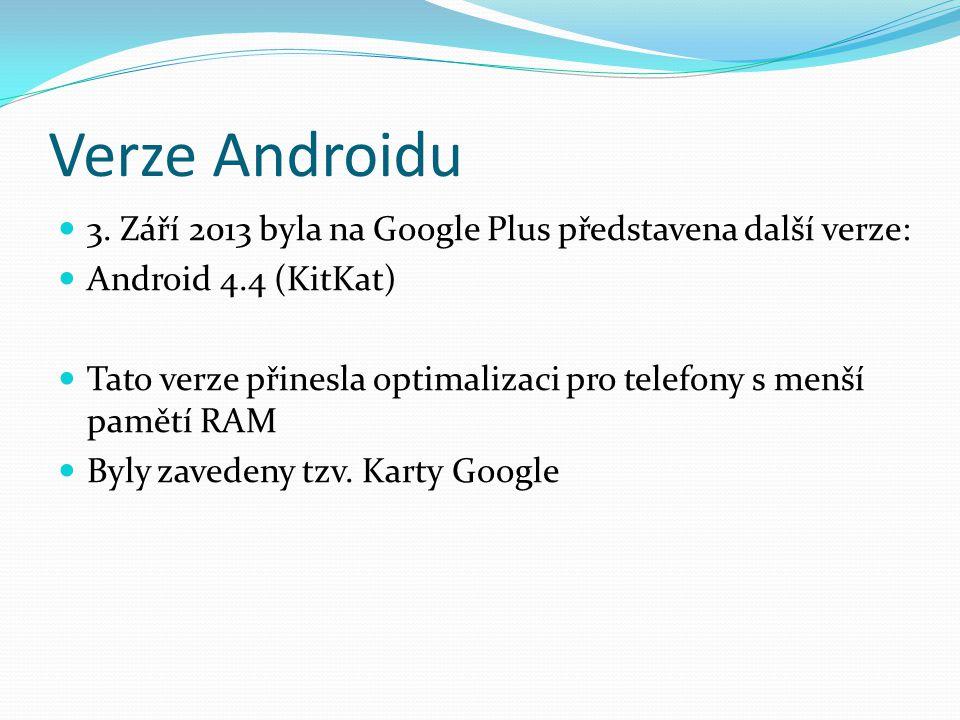 Verze Androidu 3.
