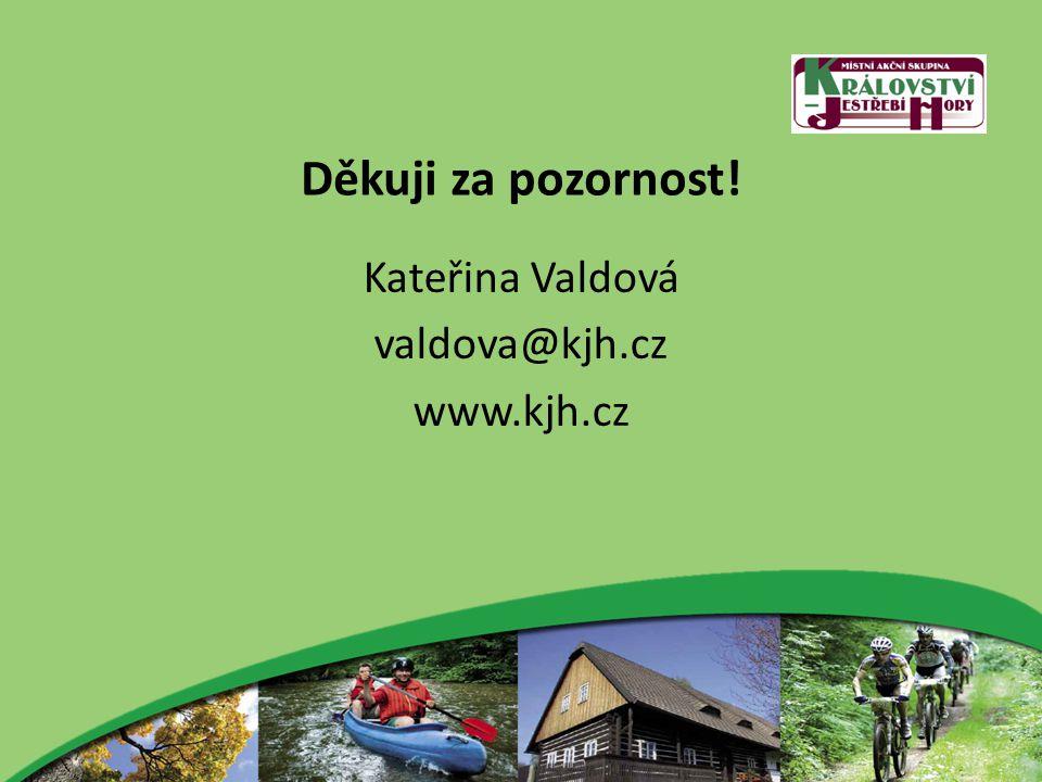Děkuji za pozornost! Kateřina Valdová valdova@kjh.cz www.kjh.cz