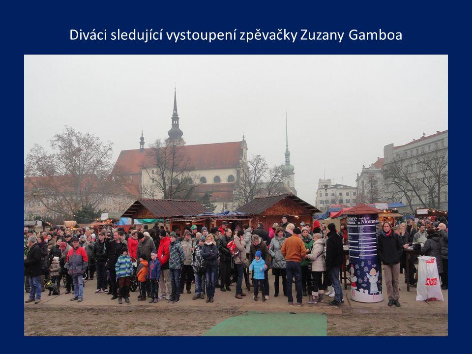 Vystoupení zpěvačky Zuzany Gamboa při doprovodu orchestru Gustav Brom Band