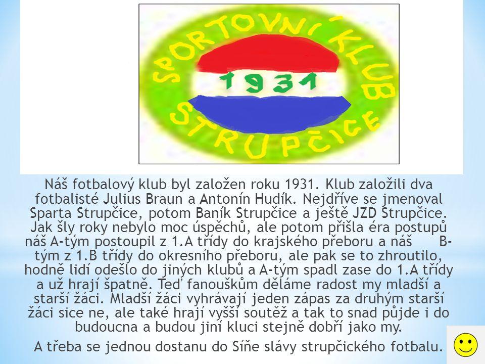 Náš fotbalový klub byl založen roku 1931.