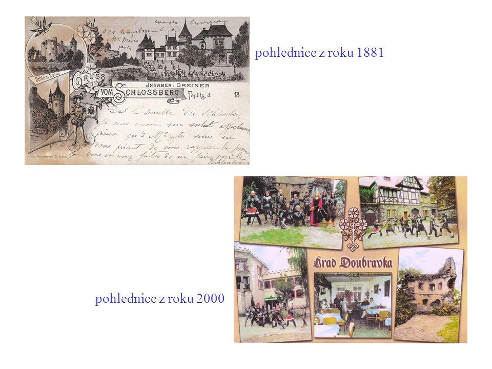 pohlednice z roku 1881 pohlednice z roku 2000