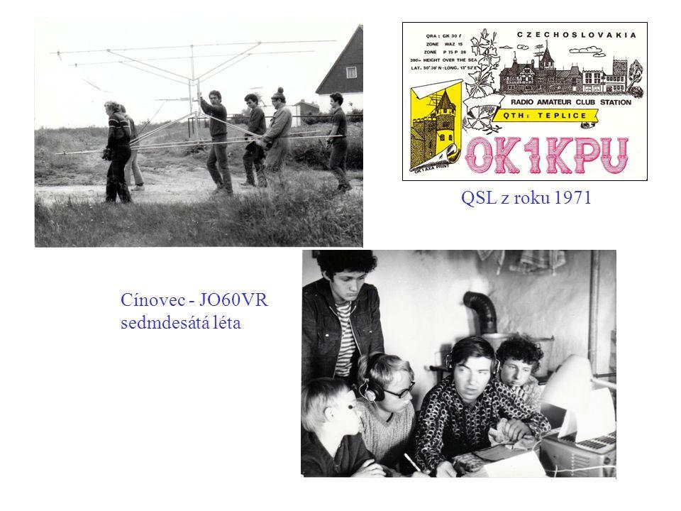 Cínovec - JO60VR sedmdesátá léta QSL z roku 1971