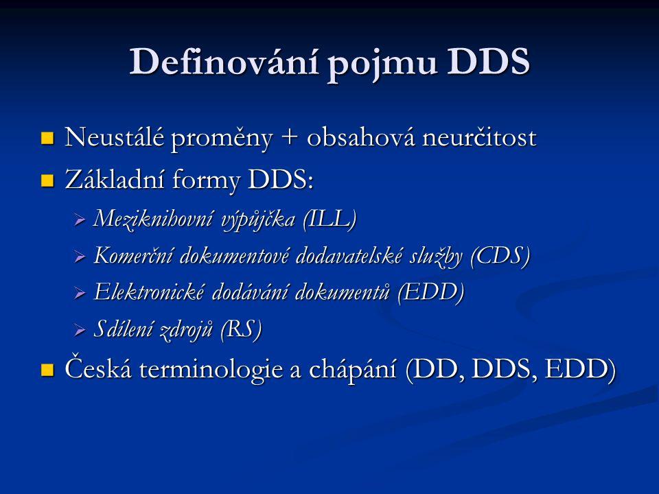 Definování pojmu DDS Neustálé proměny + obsahová neurčitost Neustálé proměny + obsahová neurčitost Základní formy DDS: Základní formy DDS:  Mezikniho