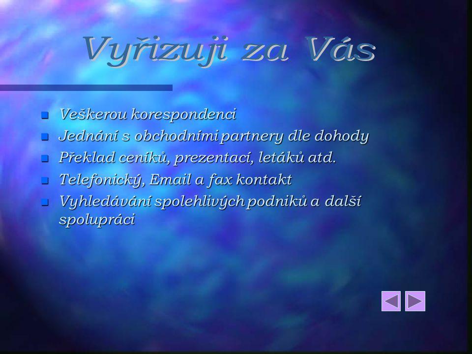 Ráda bych Vám nabídla tlumočnické a překladatelské služby v německém jazyce, které navazují na sjednávání a vyhledávání vhodných obchodních kontaktů s