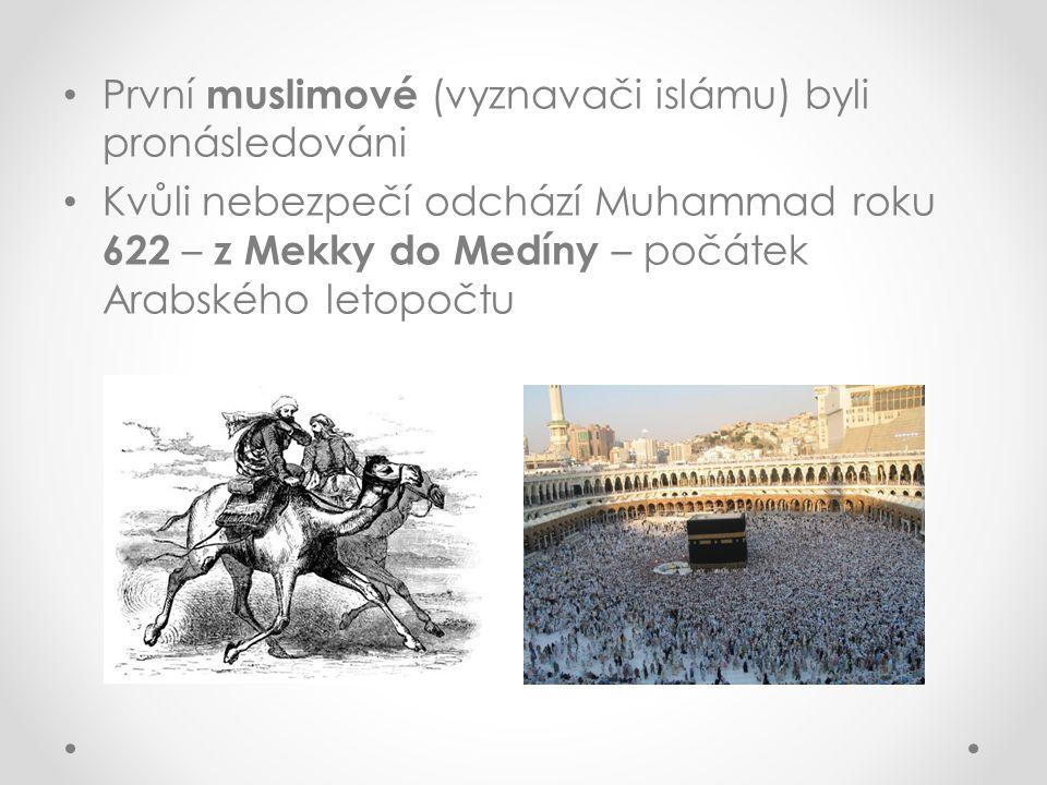 Islám Náboženství Arabů Nejvyšší bůh = Alláh Vyznavači islámu = muslimové Posvátná kniha = Korán – pravé slovo Boží zprostředkované prorokem Muhammadem