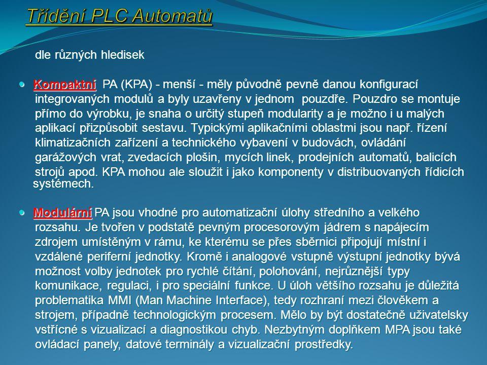 dle různých hledisek dle různých hledisek Kompaktní PA (KPA) - menší - měly původně pevně danou konfigurací Kompaktní PA (KPA) - menší - měly původně pevně danou konfigurací integrovaných modulů a byly uzavřeny v jednom pouzdře.
