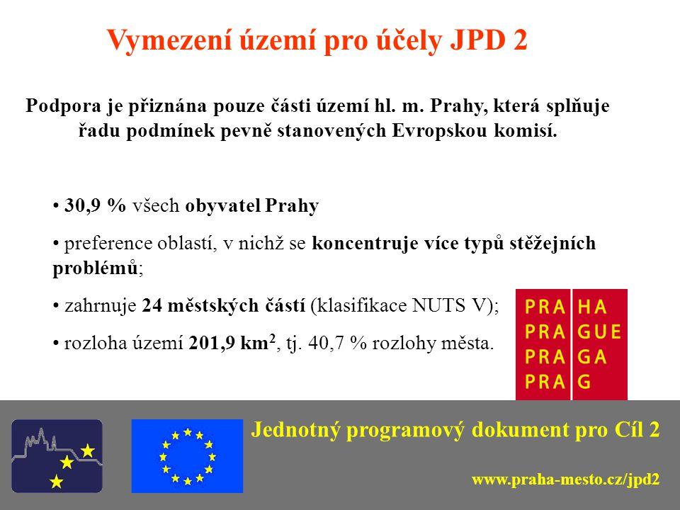 3) Informace o Prioritě 2, opatření 2.1 JPD 2 Jednotný programový dokument pro Cíl 2 www.praha-mesto.cz/jpd2