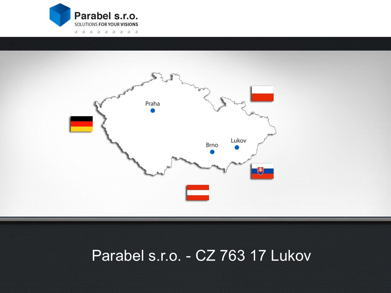 Strojírenství Výroba nářadí Potravinářský průmysl Medicínská technika Vývoj vlastních produktů Poradenství start-up Parabel s.r.o.