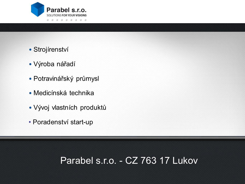 2 divize společnosti Parabel s.r.o.Příklad odvětví společnosti Parabel s.r.o.