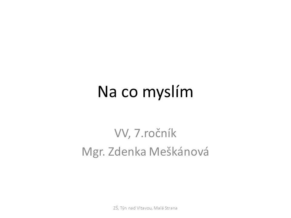 Na co myslím VV, 7.ročník Mgr. Zdenka Meškánová ZŠ, Týn nad Vltavou, Malá Strana